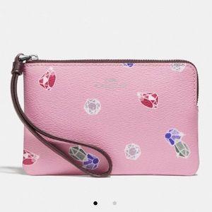 Disney X Coach Wristlet w/ Snow White Gems Print